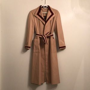 Etienne Aigner Vintage Trench Coat Womens Size 6